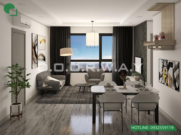 PK- [2019] Xem mẫu thiết kế căn hộ 61m2 FLC Green Apartment - Nội thất đẹp