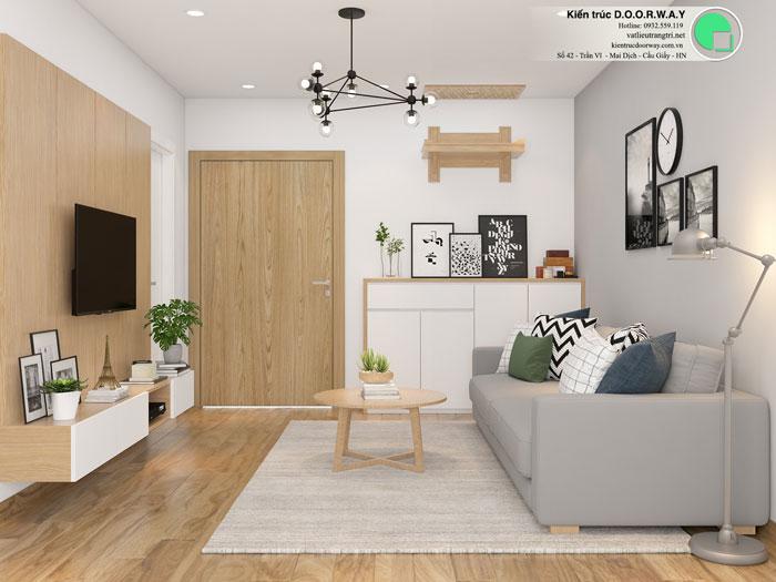 PK- Căn hộ 1PN - Thiết kế căn hộ 63m2 Sky Park Residence