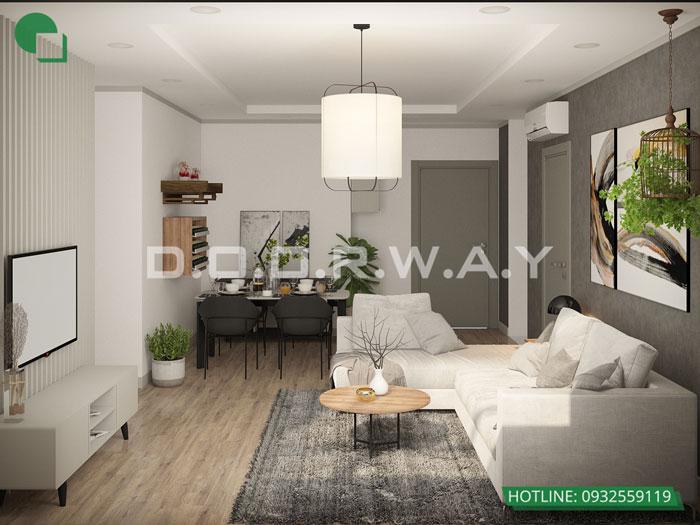 PK- Thiết kế căn hộ 70m2 FLC Green Apartment - Căn hộ 3 phòng ngủ
