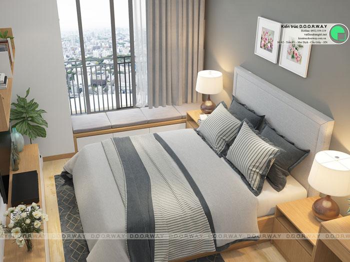 PN- Căn hộ 1PN - Thiết kế căn hộ 63m2 Sky Park Residence