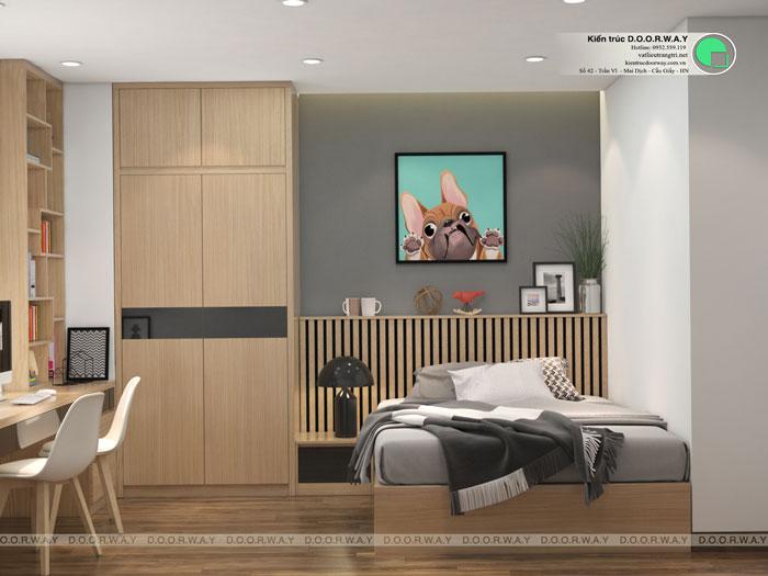 PN2- [2019] Thiết kế căn hộ 87m2 Sky Park Residence - Nội thất sang trọng