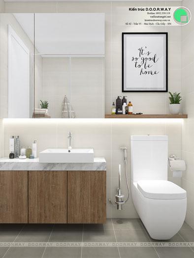 WC- [2019] Xem mẫu thiết kế căn hộ 61m2 FLC Green Apartment - Nội thất đẹp