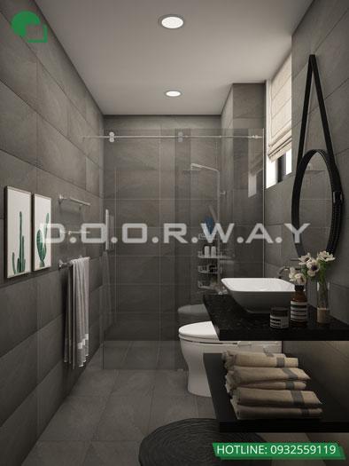 WC- Căn hộ 1PN - Thiết kế căn hộ 63m2 Sky Park Residence