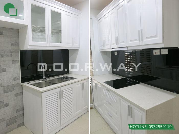 1- Mẫu thi công nội thất tủ bếp gỗ công nghiệp An Cường đẹp