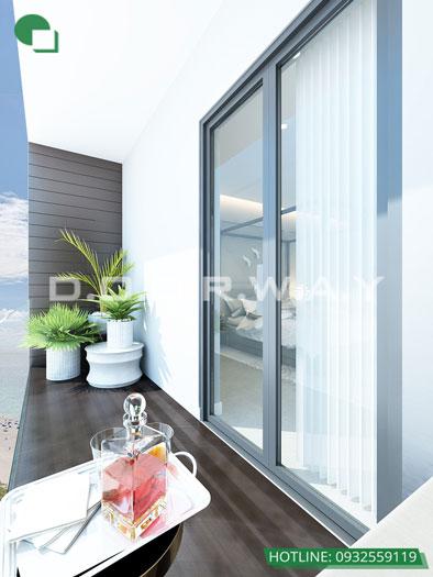 Logia- 3PN - Mẫu thiết kế căn hộ 127m2 Cầu Giấy Center Point