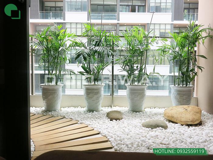 Logia- Xem mẫu thiết kế nội thất căn hộ 81m2 Cầu Giấy Center Point - 3PN