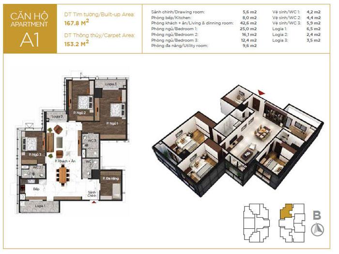 MB-153m2-3PN- Mẫu thiết kế nội thất căn 153m2 Sunshine Center - Doorway
