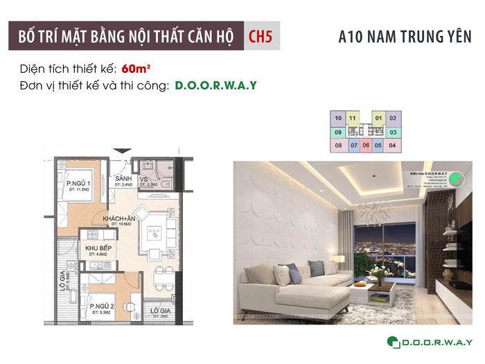 MB-60m2- Mẫu thiết kế nội thất căn 60m2 A10 Nam Trung Yên - Căn hộ đẹp 2019