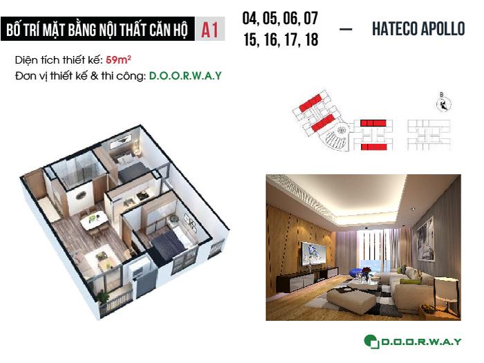 MB-A1-59m2- [Doorway] Thiết kế nội thất căn 59m2 Hateco Apollo - Căn hộ 2PN