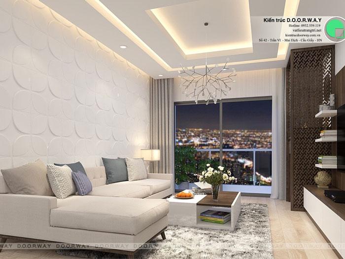 PK- Mẫu thiết kế nội thất căn 60m2 A10 Nam Trung Yên - Căn hộ đẹp 2019