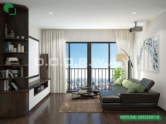 PK- Xem mẫu thiết kế nội thất căn hộ 81m2 Cầu Giấy Center Point - 3PN