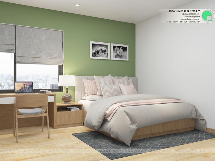 PN2- Xem mẫu thiết kế nội thất căn hộ 81m2 Cầu Giấy Center Point - 3PN