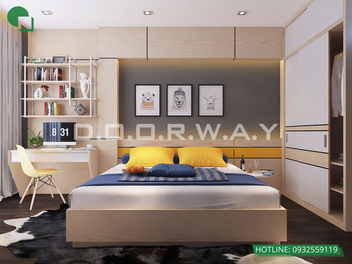 PN2(1)- Mẫu đẹp cho nội thất căn 2 phòng ngủ Sunshine Center - Update 2019