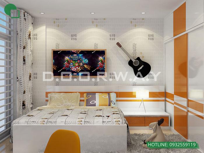 PN2(1)- Mẫu thiết kế nội thất căn hộ Hateco Apollo - nhiều mẫu đẹp 2019