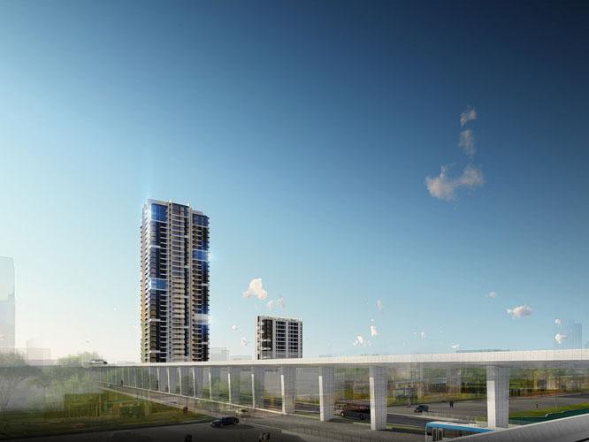 Toàn cảnh- 3PN - Mẫu thiết kế căn hộ 127m2 Cầu Giấy Center Point