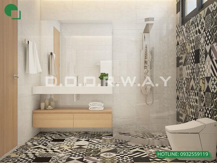 WC- Mẫu thiết kế nội thất căn 60m2 A10 Nam Trung Yên - Căn hộ đẹp 2019