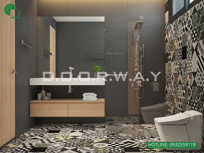 WC- Xem mẫu thiết kế nội thất căn hộ 81m2 Cầu Giấy Center Point - 3PN