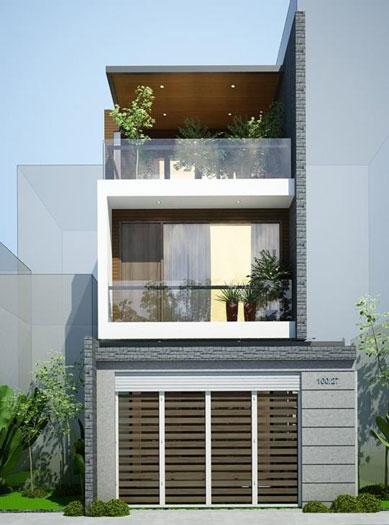 4. Thiết kế nhà 5x11m có gara