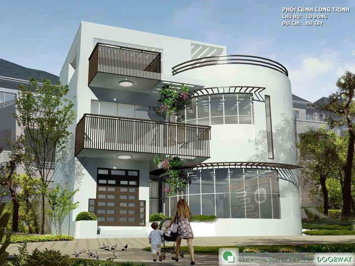 3-Mẫu thiết kế nhà hai tầng đẹp hiện đại 80m2