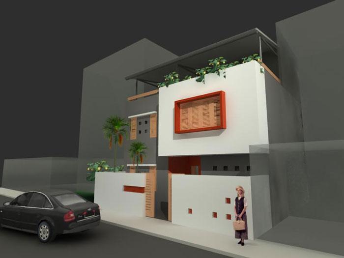 2-Mẫu thiết kế nhà hai tầng đẹp hiện đại 80m2
