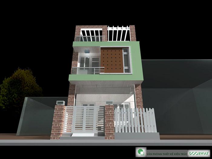 1-Mẫu thiết kế nhà hai tầng đẹp hiện đại 80m2