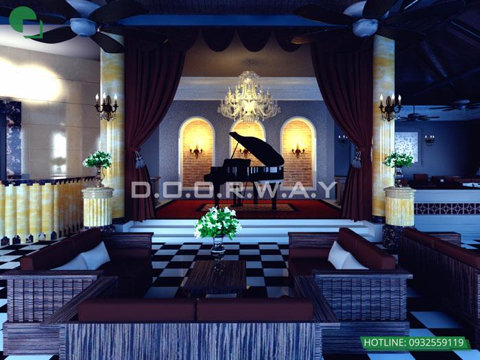 1 - Mẫu thiết kế quán cafe đẹp
