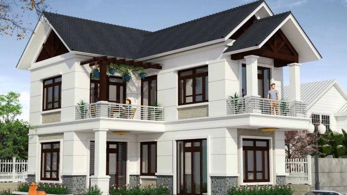 1- Bắt mắt với 5 mẫu thiết kế nhà chiều ngang 9m