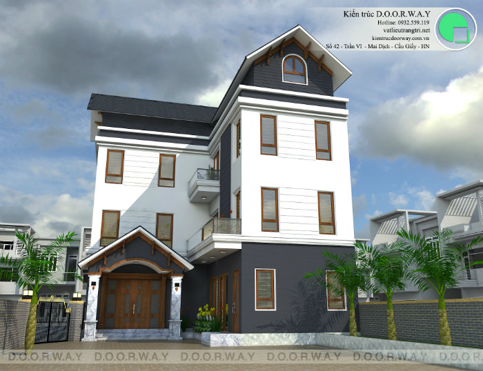 3- Ấn tượng khó phai với mẫu thiết kế biệt thự 3 tầng hiện đại