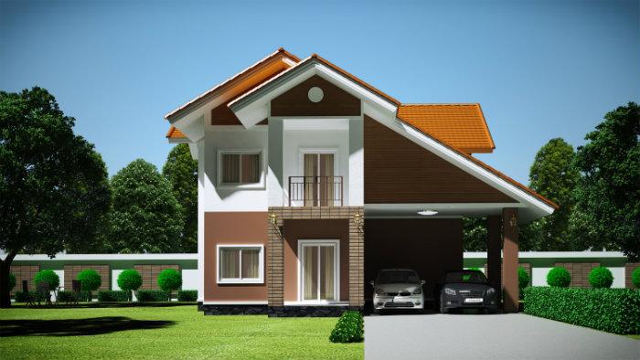 3- Bắt mắt với 5 mẫu thiết kế nhà chiều ngang 9m