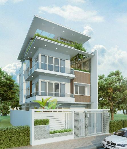 4- Bắt mắt với 5 mẫu thiết kế nhà chiều ngang 9m