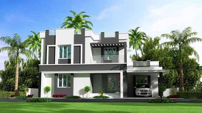 5- Bắt mắt với 5 mẫu thiết kế nhà chiều ngang 9m