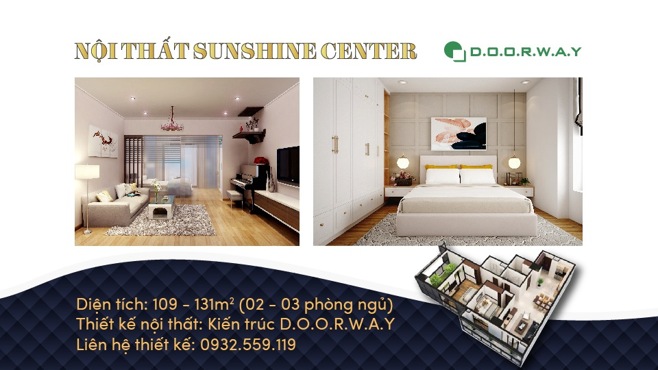 Ảnh tiêu biểu- Những loại phòng trong thiết kế nội thất căn hộ Sunshine Center