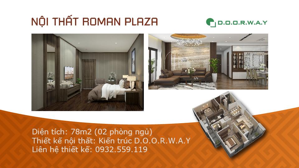 Ảnh tiêu biểu- Bố trí nội thất căn 78m2 Roman Plaza hợp phong thủy