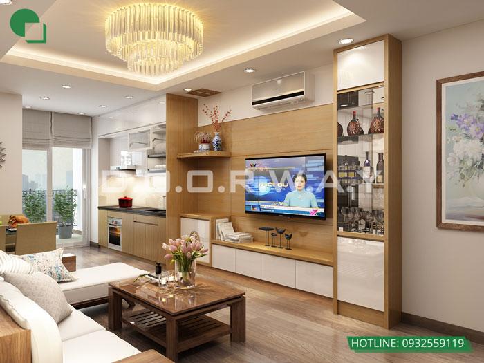 PK- Gợi ý mẫu nội thất căn 69m2 Roman Plaza cho gia đình trẻ