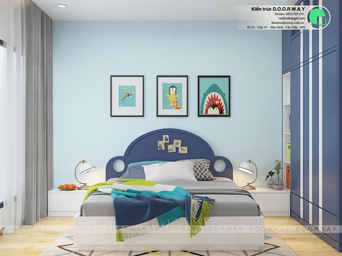 PN2- Thiết kế nội thất căn 129m2 Sunshine Center - 3PN hiện đại