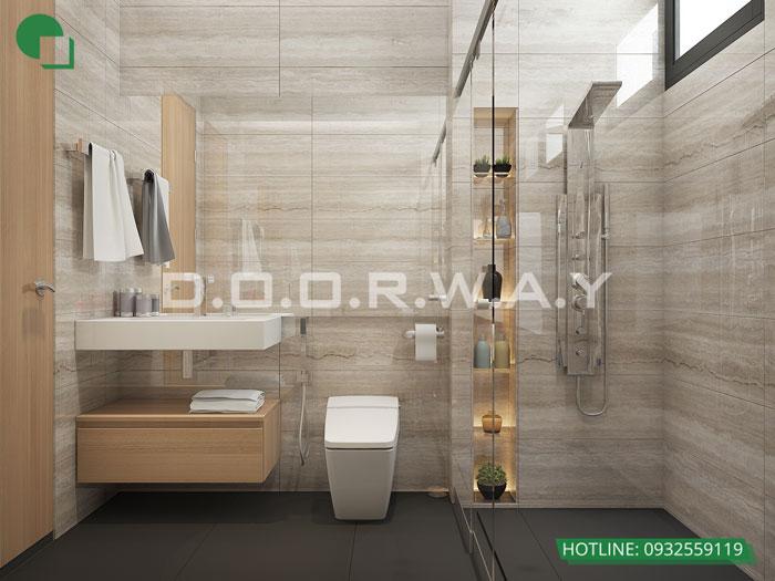 WC- Thiết kế nội thất căn 129m2 Sunshine Center - 3PN hiện đại