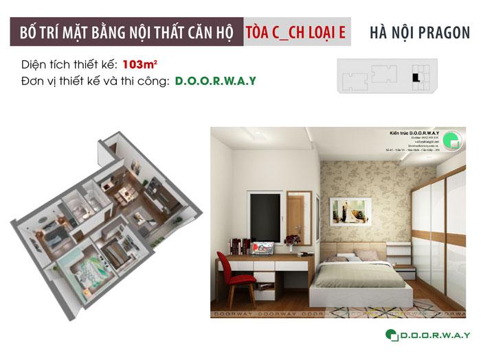 1-nội thất căn hộ 103m2 Hà Nội Paragon