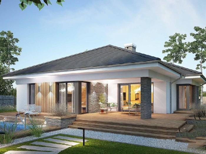 1- Những mẫu thiết kế biệt thự nhà vườn ở nông thôn đẹp
