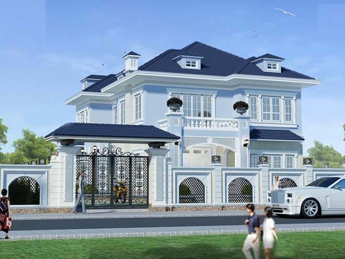 1-thiết kế biệt thự phong cách tân cổ điển