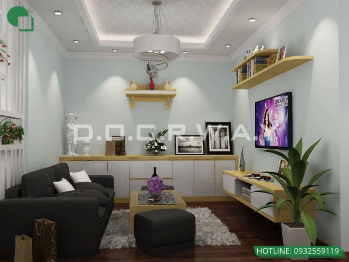 2- 6 mẹo thiết kế nội thất phòng khách biệt thự diện tích nhỏ
