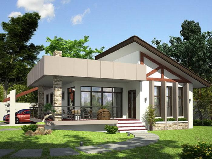 3- Những mẫu thiết kế biệt thự nhà vườn ở nông thôn đẹp