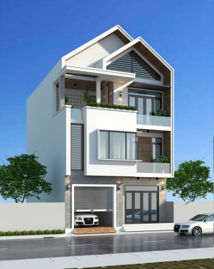 3- Sở hữu ngôi nhà đẹp mãi với thời gian cùng thiết kế nhà 6x20m