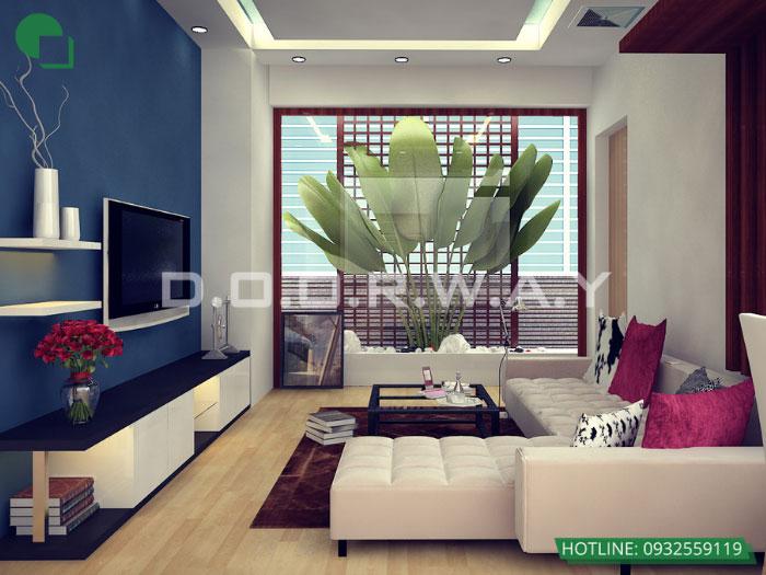 3- 6 mẹo thiết kế nội thất phòng khách biệt thự diện tích nhỏ