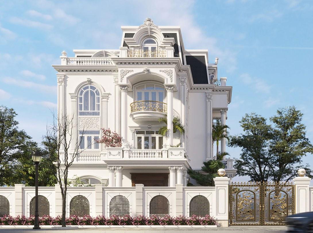 4-thiết kế biệt thự phong cách tân cổ điển