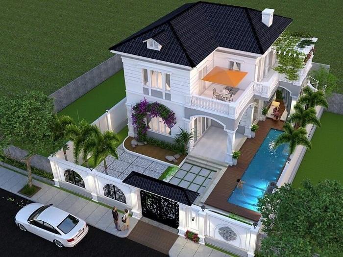 5- Những mẫu thiết kế biệt thự nhà vườn ở nông thôn đẹp
