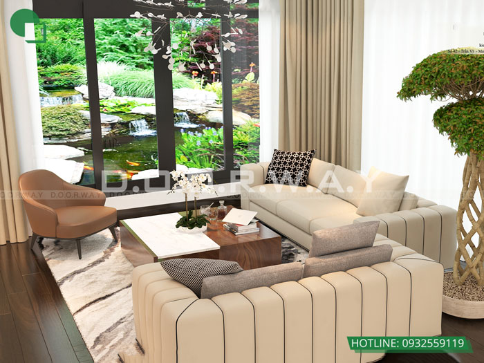 6- 6 mẹo thiết kế nội thất phòng khách biệt thự diện tích nhỏ