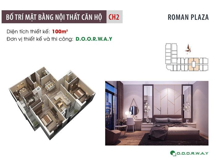 MB - Mẫu nội thất căn 100m2 Roman Plaza (3PN đẹp)