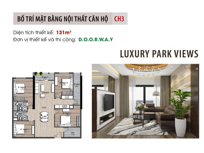 MB- Tiện nghi hơn với mẫu nội thất căn 131m2 Luxury Park View