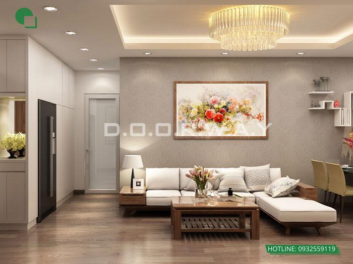 1-thiết kế nội thất phòng khách 25m2
