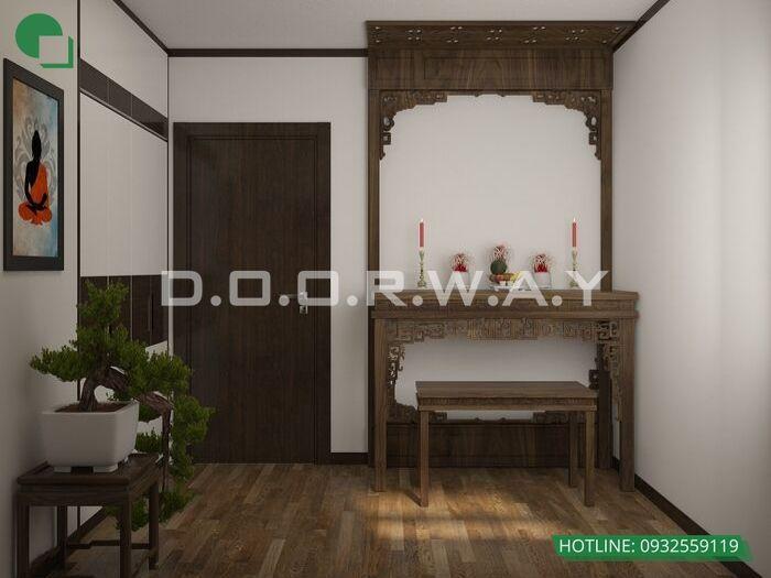 1- Các mẫu trang trí nội thất phòng thờ tôn nghiêm và hợp phong thủy
